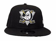 New Era Anaheim Ducks 9Fifty Vintage Classic Black Wool Snapback Hat Cap NHL