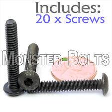"#10-24 x 1-1/4"" - Qty 20 - BUTTON HEAD Socket Cap Screws Alloy Steel Black Oxide"