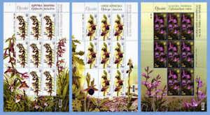 "2015 Ukraine. ""Wild Orchids of Ukraine"". Full sheets."