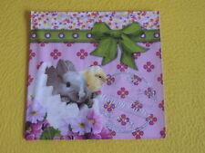 5 Servietten KÜKEN spring chickens Blüten Serviettentechnik 1//4 Tiere Frühling