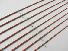 """8 NOS Solid Glass Fishing Rods (No Handles) No Foul Guides- 50"""" Medium Action"""