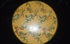 AR-064 - VOGUE VANITIES DRAGONS Theme LADY'S COMPACT Vintage Metal RARE