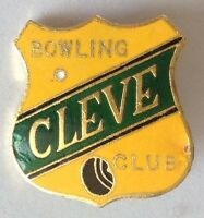 Cleve Bowling Club Badge Rare Vintage (M8)
