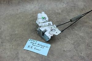 04-12 Mitsubishi Galant Right Rear RR Door Lock Latch Power Handle Cable Cables