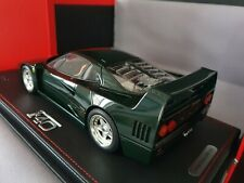 FERRARI F40 Verde Abetone RARE 1/18 BBR with showcase New Limited 100 Sold out