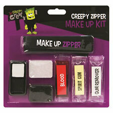 Scary Vampire Dracula Zipper Make-Up Set, Fake Blood, Spirit Gum Halloween