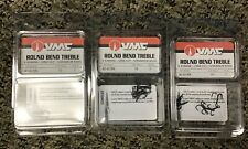 (LOT OF 3) VMC Round Bend Treble Hooks Cone Cut Size 10 QTY 7 - 8540 BN