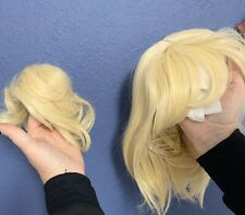Yilys Short Blonde Cosplay Wig Wigh 2 Detachable Buns