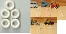 047b. MERCURY 1/48- 5 Gomme replica / Replica Tyres/Pneus replica (small models)