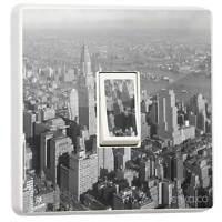 New York City NY Black & White Single Light Switch Sticker wall skin vinyl cover
