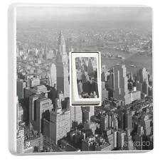 NEW YORK CITY NY BLACK & WHITE singolo INTERRUTTORE LIGHT adesivo muro Pelle Vinile Copertura