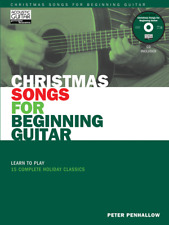"""""""Christmas Songs for Beginning Guitar"""" MUSIC BOOK/CD-BRAND NEW ON SALE SONGBOOK!"""