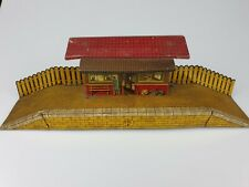 Vintage Tinplate Brimtoy Country Train Station c1950's No Box