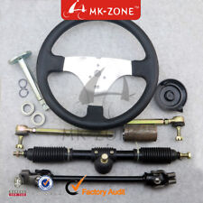 110cc Go Kart 300mm Steering Wheel 320mm Assembly Full Steel Gear Rack Pinion