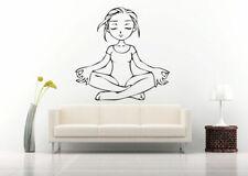 Wall Art Vinyl Sticker Room Decal Mural Decor Yoga Girl Postures Hindu bo441