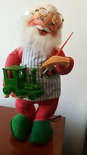 Vintage Annalee Motorized Workshop Santa Painting A Train 16''