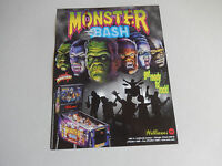 MONSTER BASH PINBALL MACHINE    FLYER     arcade game ad
