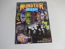 MONSTER BASH PINBALL MACHINE    FLYER     arcade game ad