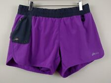 ASICS Running Shorts Women's Size L Large Purple - Gray