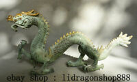 "17,2"" Ancien Bronze Chinois Feng Shui Zodiac Year Animal Dragon Chanceux Statue"