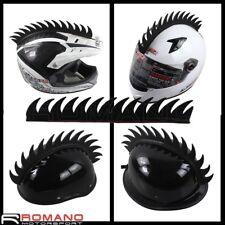 Motorcycle Biker Outdoor Skiing Helmet Dress Mohawk Rubber Sticker Spike Strip