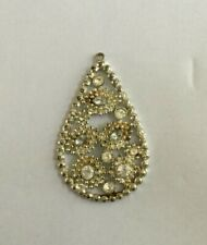 Silver Tone, Multiple Glass Stones A Lovely Vintage Costume Jewellery Pendant