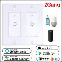 2Gang Smart WIFI Light Wall Switch Works Alexa Google Home IFTTT Smart Life App