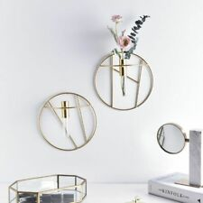 Nordic Geometric Circular Shape Glass Wall Hanging Flower Plants Vase Decoration