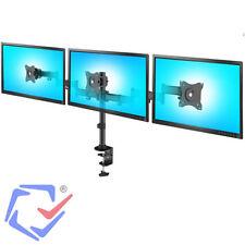 """Soporte triple Para 3 monitores Pantalla 13""""-27"""" 8kg Vesa 75 y 100 Escritorio"""