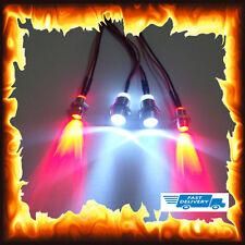 4pcs RC FARI POSTERIORE LUCE SULLA STRADA DEL MODELLO Drift Auto Notte LED Lampada 5mm 3mm