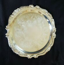 Silverplate 12 3/4 inch Baroque Serving Tray by Taunton Silversmiths IOB USA