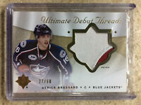 08-09 UD Ultimate Debut Threads RC Rookie Patch DERICK BRASSARD /50