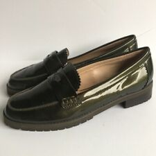 Womens Coach 'Peyton' Patent Leather Loafers 8M Green