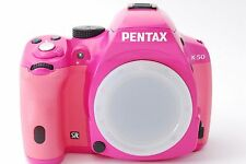 *Near MINT!!* Pentax K K-50 16.3MP Digital SLR Camera Body PINK From Japan #856