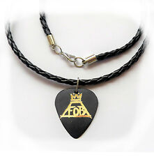 FALL OUT BOY FOB guitar pick plectrum braided LEATHER NECKLACE 20""