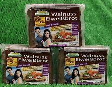 (14€/KG) 3x Mestemacher Walnuss Eiweißbrot mit 5% Wallnüssen viel Eiweiß 250g!!!