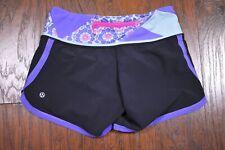 Lululemon Groovy Run Shorts Black Quilt Summer Power Purple Women's 2