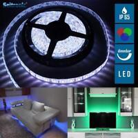 5m LED RGB Strip Band Leiste IP65 Lichtkette SMD Licht-Streifen wasserdicht NEU