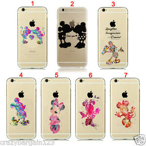 Disney Style Mickey Minnie Mouse Fan Art for iPhone Transparent Clear Case Cover