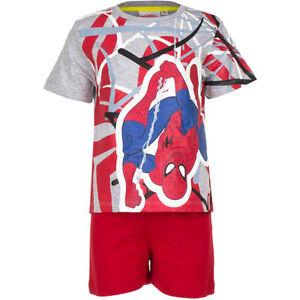 Pyjama Set Short nightclothes Boys Spiderman Orange Red Grey 98 104 116 128 #58