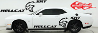 Hellcat SRT Double Sided Graphic Vinyl Decal Fits Dodge Challenger 2000-2020