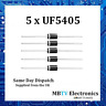 5 x UF5405 Diode 500V 3Amp 2-Pin DO-2 Soft Recovery Ultrafast Plastic Rectifier