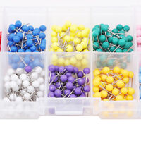 500pcs Round Tacks Push Pins Plastic Head With Steel Point For Map Cork S