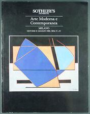 CATALOGUE VENTE ENCHERES - SOTHEBY'S MILANO - ARTE MODERNA E CONTEMPORANEA 1990
