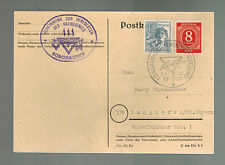 1947 Dachau West Germany 2 Year Liberation Anniversary Postcard Cover to Bavaria