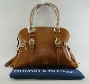 *NWT* DOONEY & BOURKE Women's Natural Florentine Domed Buckle Satchel w/Dust Bag