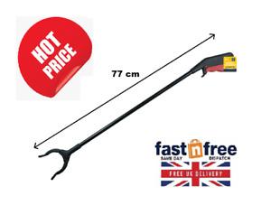 Long Hand Plastic Pick Up Tool Mobility Reach Rubbish Litter Picker Grabber 77cm