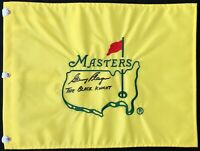 Gary Player Signed Undated Masters Augusta National Golf Flag Autographed
