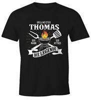Herren T-Shirt Grillshirt personalisierbar Grillmeister [Wunschname] der Mann,