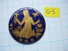 Petit médaillon émail fille au papillon émaillé bijoux montre watch pocket p5